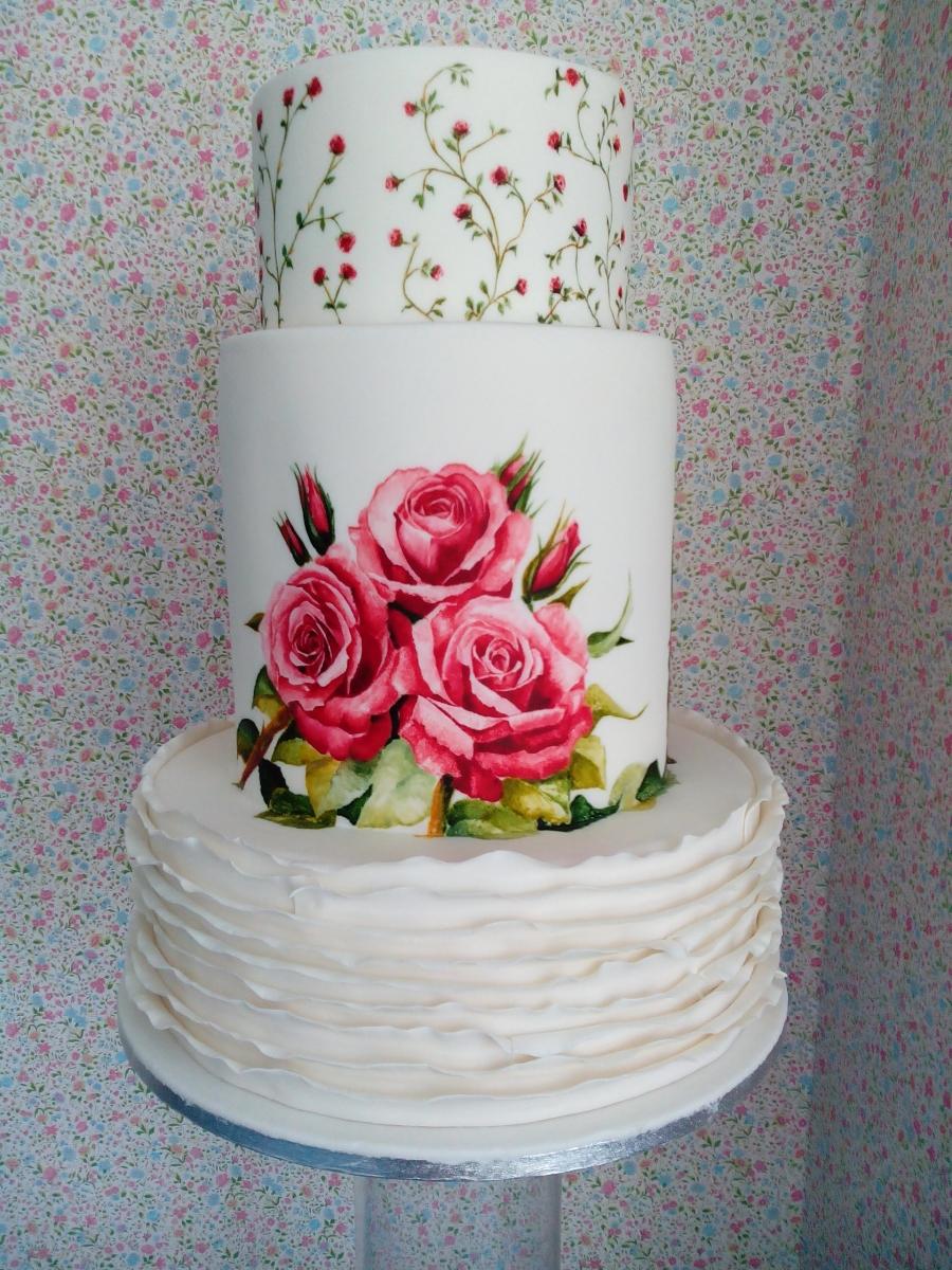 tarta-para-boda-de-fondant-pintada