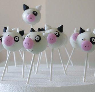 Receta cake pop vaca