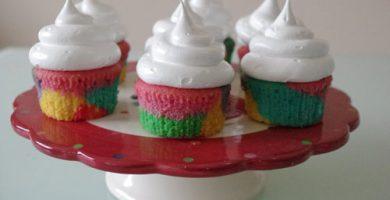 Receta de cupcakes arcoiris