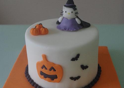 Tarta de Kitty Halloween