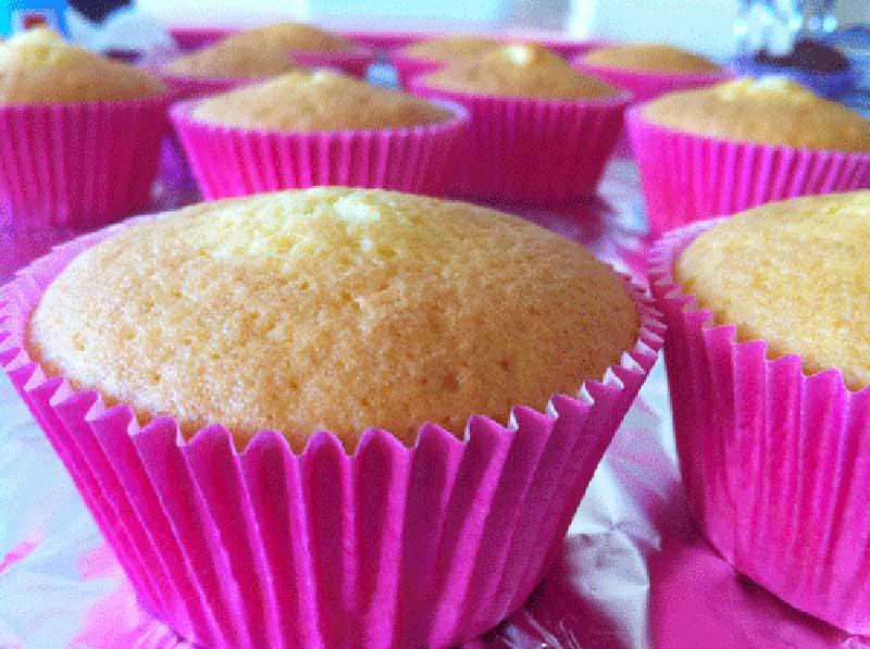 receta cupcakes de vainilla